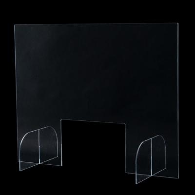 アクリルクリアパーテーション 飛沫感染防止用透明板 窓付き W750mm